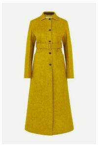 Jil Sander - Belted Wool-blend Felt Coat - Chartreuse