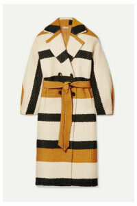 Ulla Johnson - Lawson Double-breasted Striped Woven Coat - Neutral