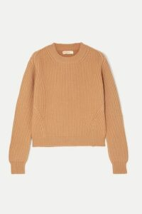 &Daughter - Inver Ribbed Merino Wool And Cashmere-blend Sweater - Camel