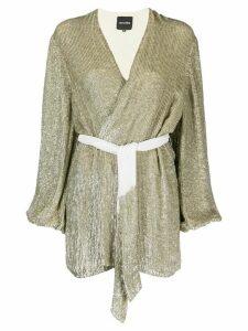 Retrofete waist-tied mini dress - GOLD