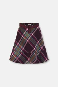 Clarendon Check Wool Skirt