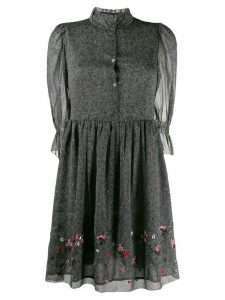 Zadig & Voltaire floral ruffle mini dress - Grey