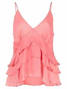 Nicole Miller ruffle tank top - Pink
