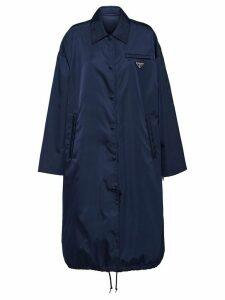 Prada Nylon Gabardine Coat - Blue