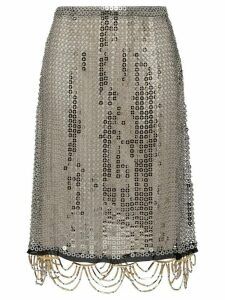 Prada jewelled mesh skirt - Black