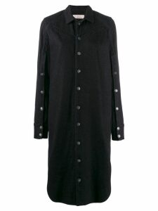 A.F.Vandevorst long-sleeve shirt dress - Blue