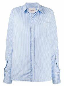 A.F.Vandevorst striped oversized shirt - Blue