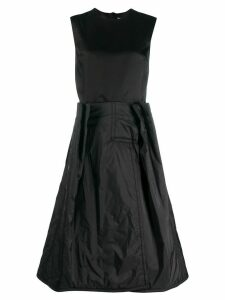 Maison Margiela dual-fabric dress - Black