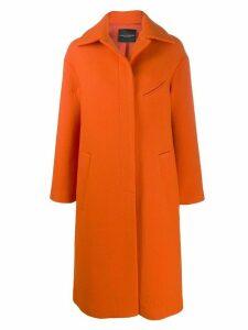 Erika Cavallini oversized single-breasted coat - ORANGE