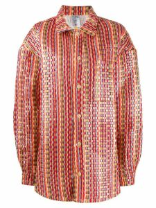 Bethany Williams woven oversized coat - Red