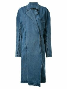 Pony Stone oversized denim coat - Blue