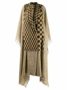 Uma Wang oversized multi-panel coat - Neutrals