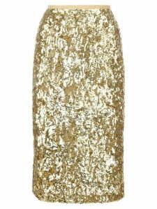Michael Kors sequinned pencil skirt - Gold
