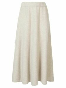 Des Prés flared midi knitted skirt - White