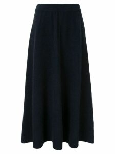 Des Prés flared midi knitted skirt - Blue