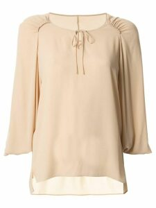 Tomorrowland loose-fit collarless blouse - Neutrals