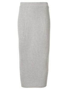 Tomorrowland ribbed-knit midi skirt - Neutrals