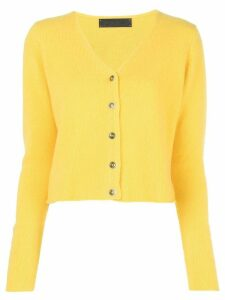 The Elder Statesman cashmere V-neck cardigan - Yellow