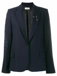 Zadig & Voltaire Victor crystal-embellished blazer - Blue