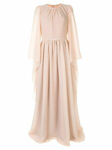 Ingie Paris draped long-sleeved gown - Pink
