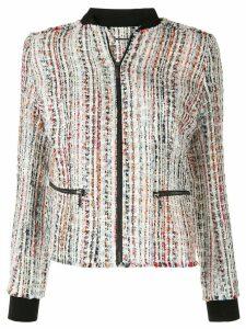 Elie Tahari Brooke frayed tweed jacket - Multicolour