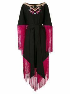 Manish Arora fringe-trimmed midi dress - Black