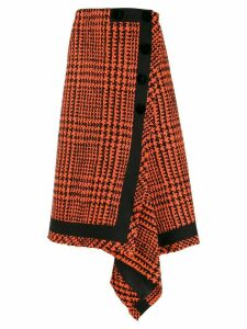 Sacai houndstooth wrap skirt - Black