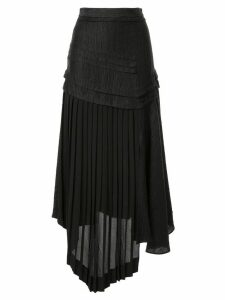 Aje April panelled asymmetric skirt - Black