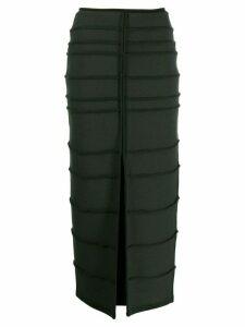 Maison Rabih Kayrouz front slit skirt - Green