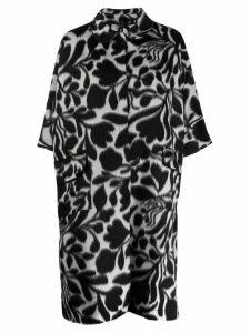 Sara Lanzi floral patterned coat - Black