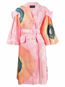 Simone Rocha graphic-print coat - Pink