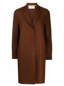 Harris Wharf London single-breasted coat - Brown