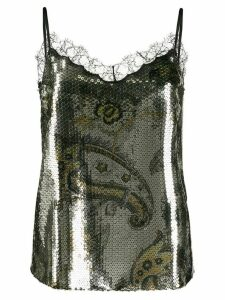 Etro lace detail top - Gold