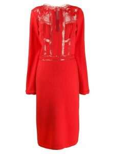 Ermanno Scervino lace panel dress - Red