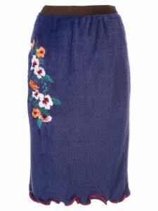 Kolor textured midi skirt - Purple
