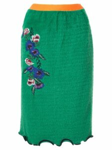 Kolor textured midi skirt - Green