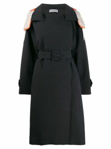 Besfxxk hooded trench coat - Black