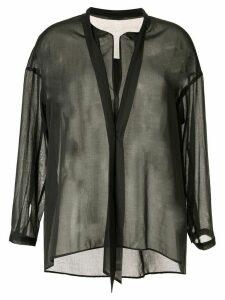 Des Prés oversized sheer blouse - Grey