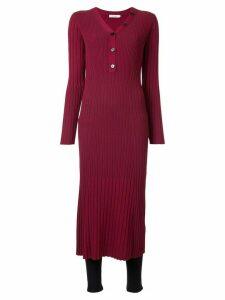 Loveless ribbed midi dress - Red