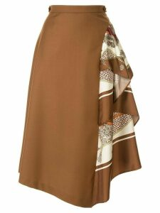 Loveless asymmetric style skirt - Brown
