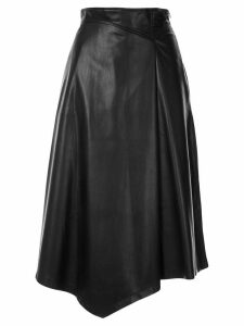 Loveless asymmetric midi skirt - Black