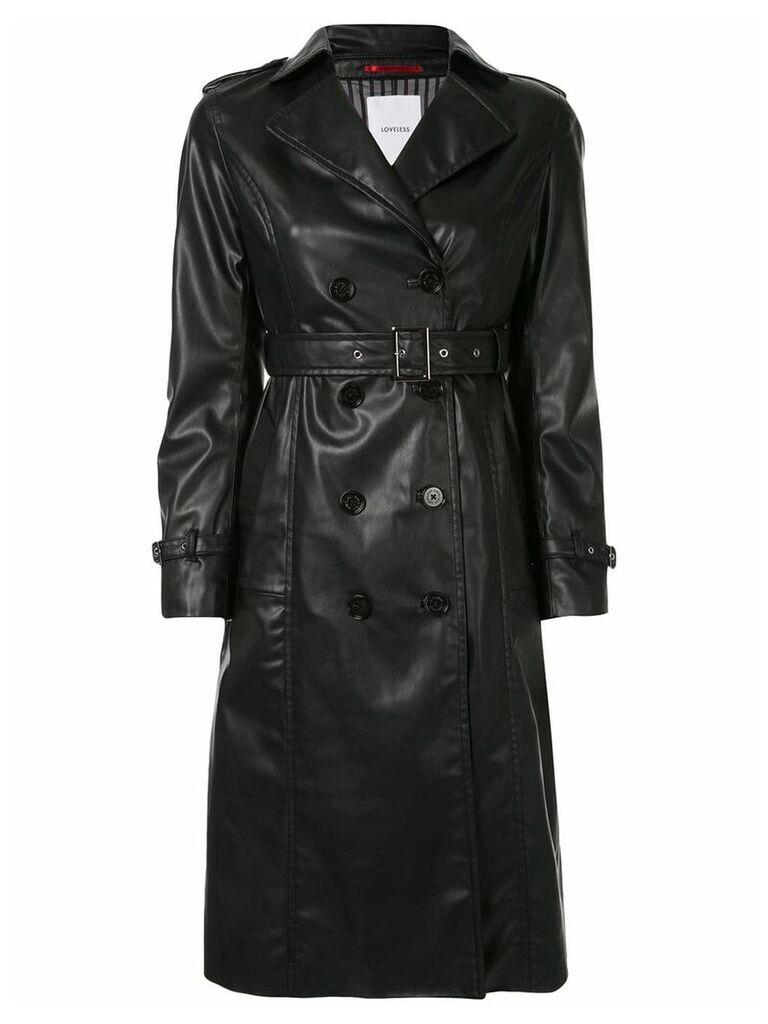Loveless belted trench coat - Black