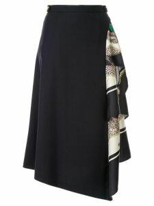 Loveless asymmetric style skirt - Navy