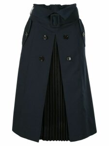 Loveless belted midi skirt - Blue