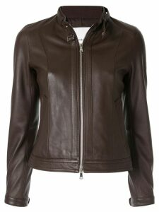 Loveless fitted leather jacket - Brown