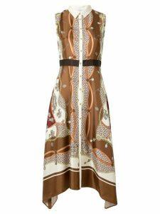 Loveless print sleeveless dress - Brown