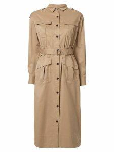 Loveless belted shirt dress - Brown