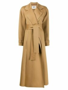 Maison Rabih Kayrouz long belted coat - Neutrals