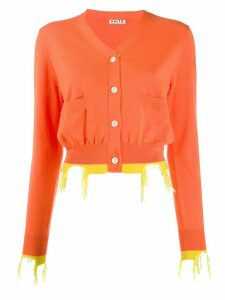 Aalto distressed effect cardigan - Orange