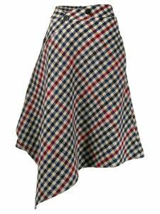 JW Anderson asymmetric houndstooth skirt - Blue